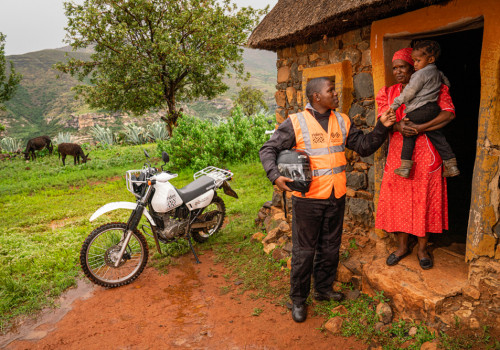 Riders for Health, supported by Two Wheels for Life in the UK, in Lesotho, Africa January 2020. Images by Tom Oldham